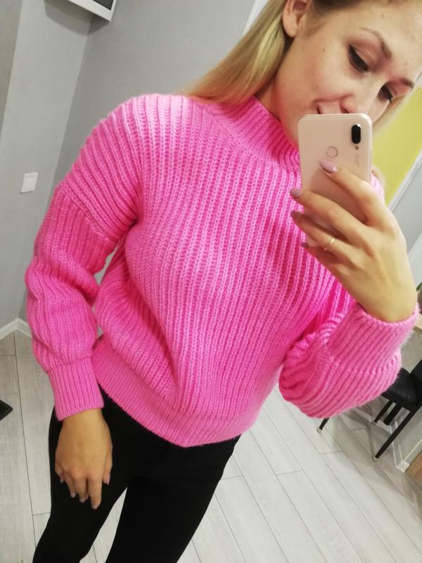 Фуксия, свитер оверсайз, женский свитер, свитер зима