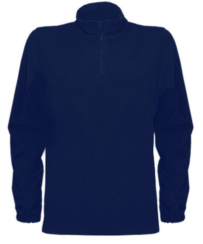 Флисовый мужской реглан темно-синий