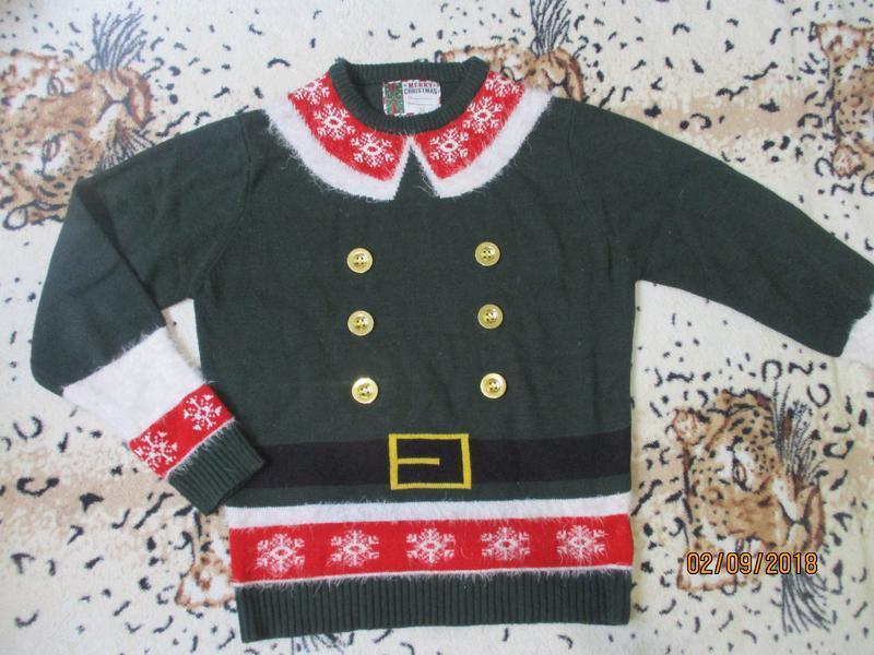 Новогодний свитер помощника санты/эльф - Фото 3