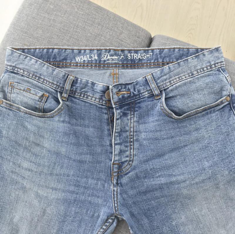 Джинсы слим стрейч синие denim / джинси слім сині
