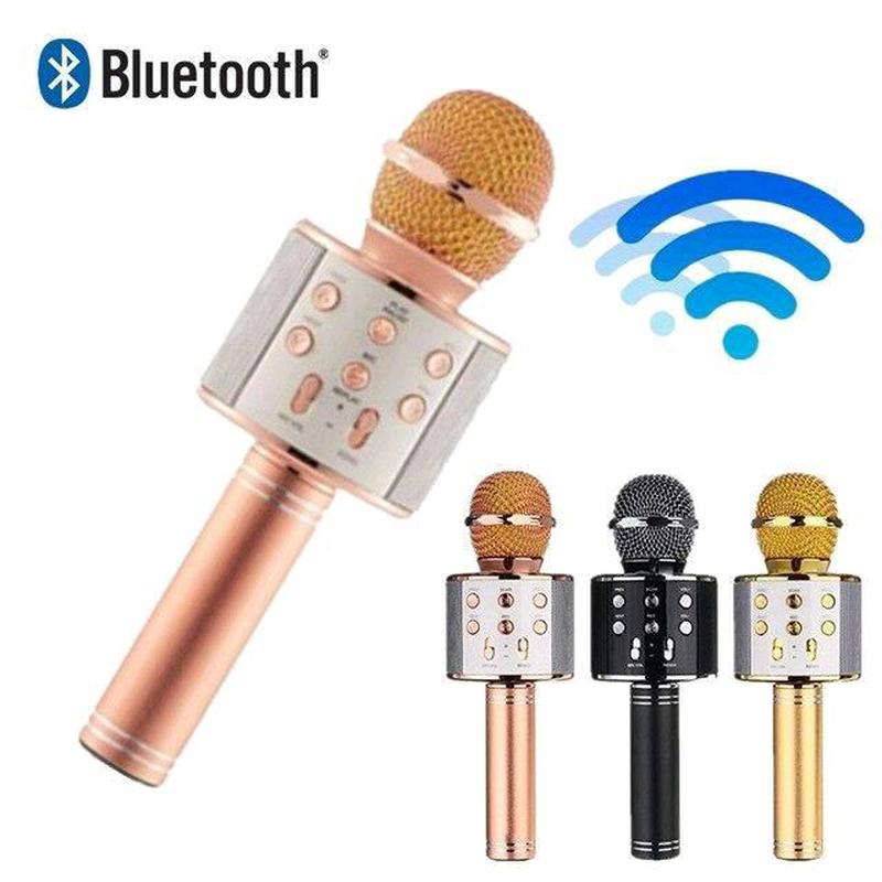Bluetooth микрофон для караоке с изменением голоса WSTER WS-858 - Фото 3