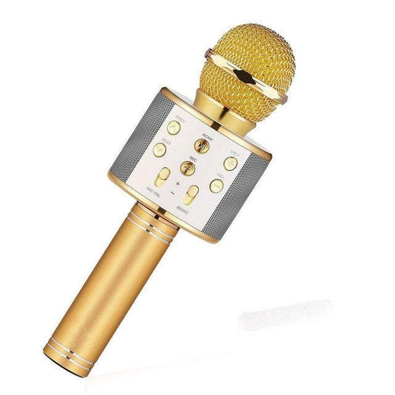 Bluetooth микрофон для караоке с изменением голоса WSTER WS-858 - Фото 4