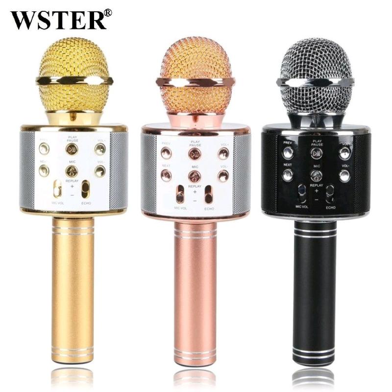 Bluetooth микрофон для караоке с изменением голоса WSTER WS-858 - Фото 6