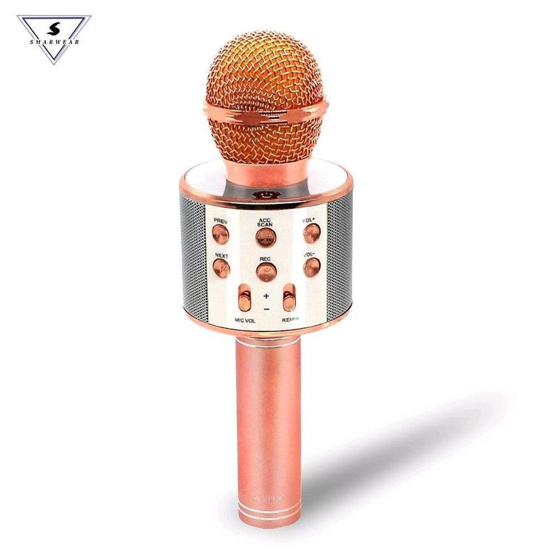 Bluetooth микрофон для караоке с изменением голоса WSTER WS-858 - Фото 5