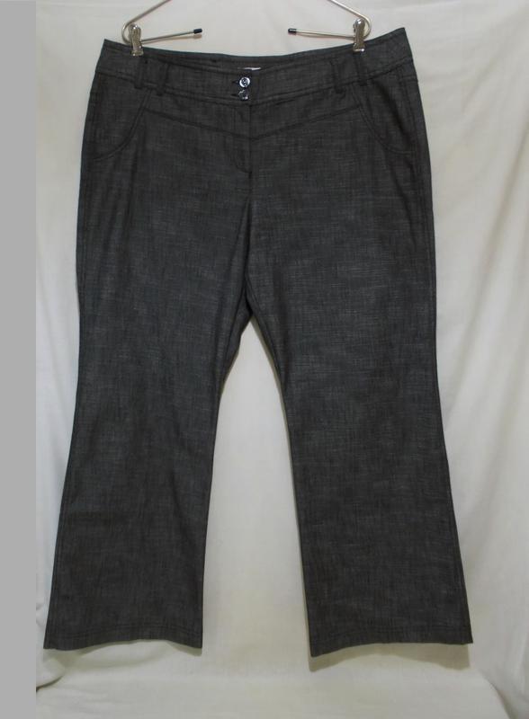Новые брюки серые пестрые *miss etam* голландия 56-58р