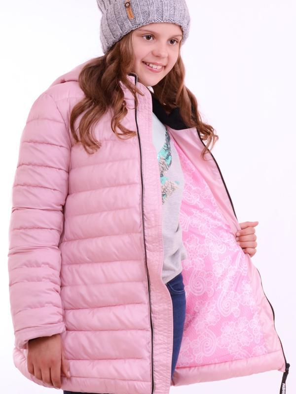 Демисезонный пуховик для девочки,  демисезонная удлиненная куртка
