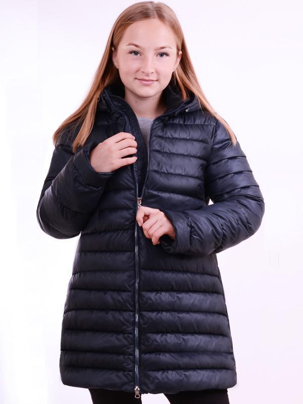 Демисезонный пуховик для девочки, демисезонная удлинённая куртка