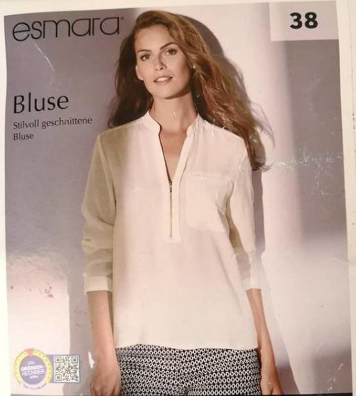 Лёгкая стильная блуза р. евро 38 м esmara германия