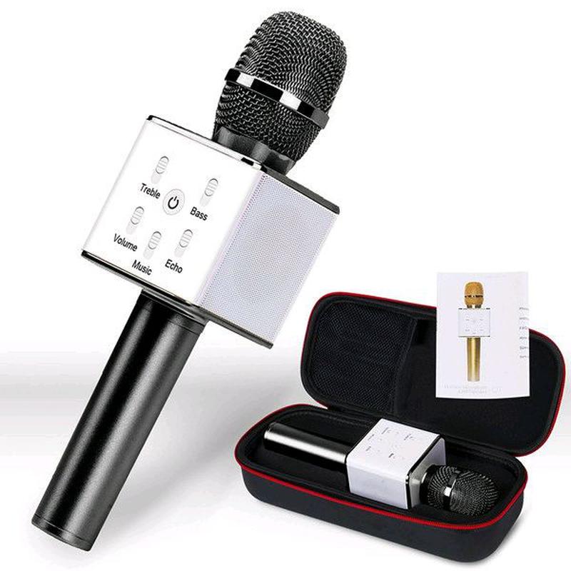 Bluetooth микрофон для караоке Q7 Блютуз микро + ЧЕХОЛ - Фото 2