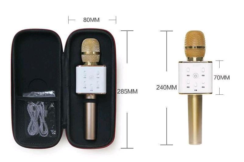 Bluetooth микрофон для караоке Q7 Блютуз микро + ЧЕХОЛ - Фото 9