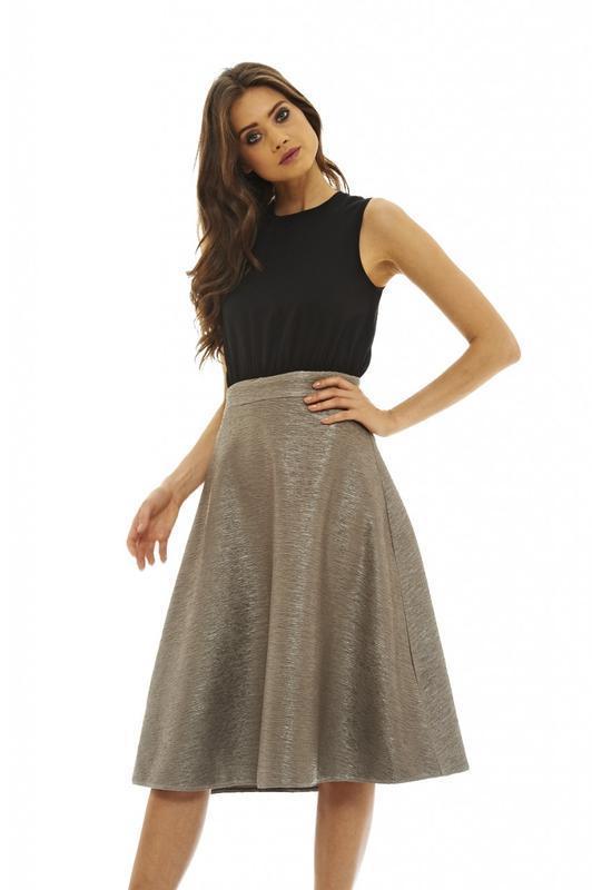 Мегаскидка!! ax paris шикарное платье миди с контрастной юбкой...