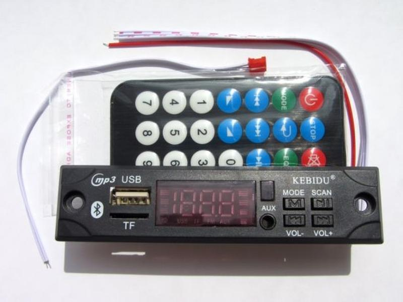 Цифровой Bluetooth декодер MP3, USB microSD FM AUX, стерео аудио