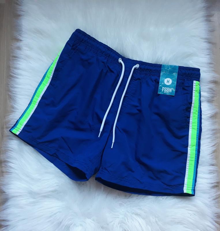 Мужские синие плавки-шорты, шорты для плавания, плавательные ш...