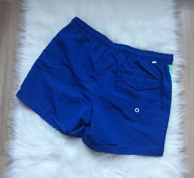 Мужские синие плавки-шорты, шорты для плавания, плавательные ш... - Фото 4