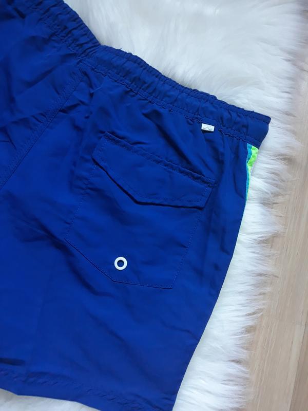 Мужские синие плавки-шорты, шорты для плавания, плавательные ш... - Фото 5