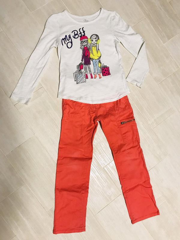 Комплект одежды костюм кофта и брюки штаны на девочку 6, 7 лет...