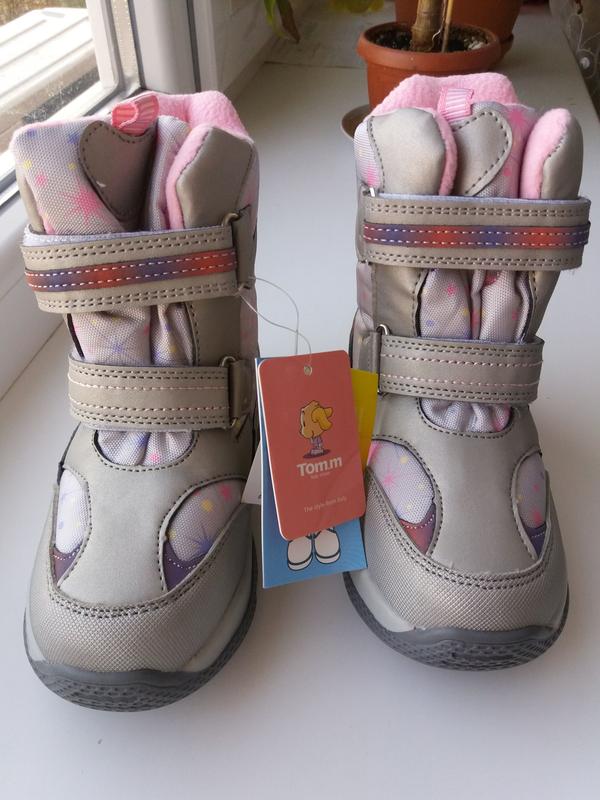 Зимние термо ботинки 28 tom m сапожки сапоги - Фото 4