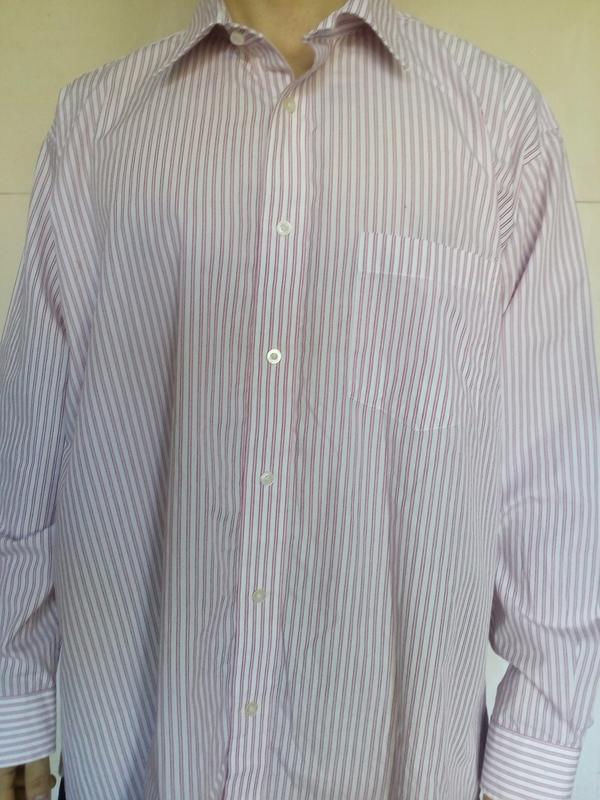 Мужская рубашка peter england/з-19,5/обьем  ворота-50см