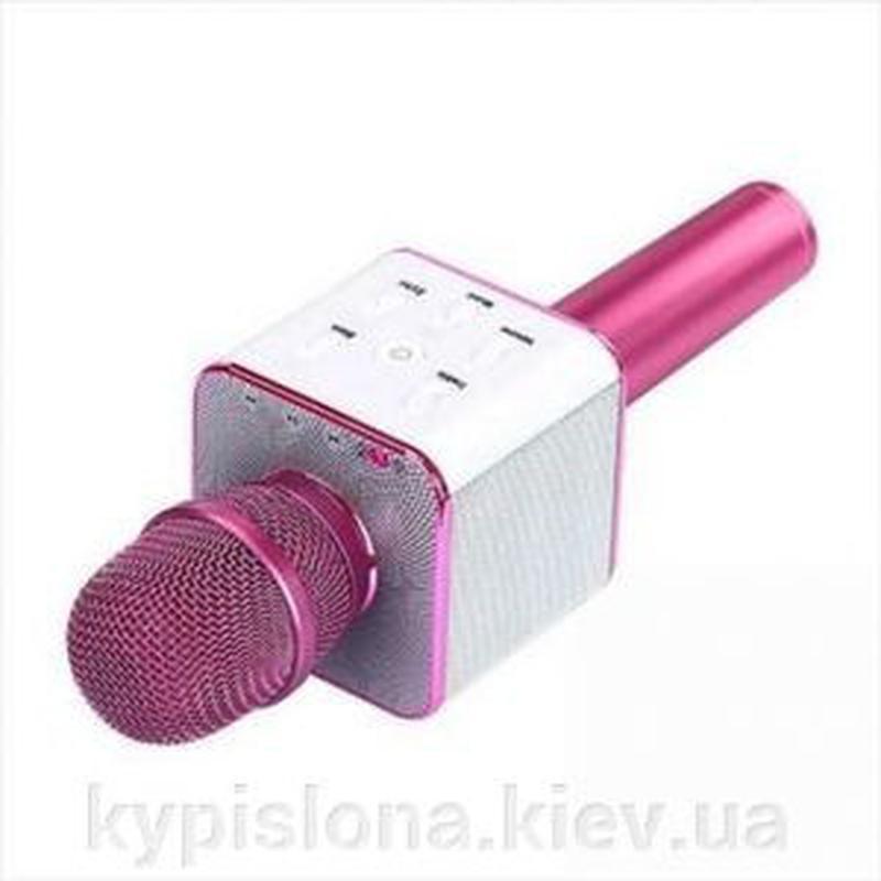 Bluetooth микрофон для караоке Q7 Блютуз микро + ЧЕХОЛ - Фото 3
