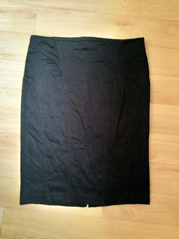 Юбка миди черного цвета