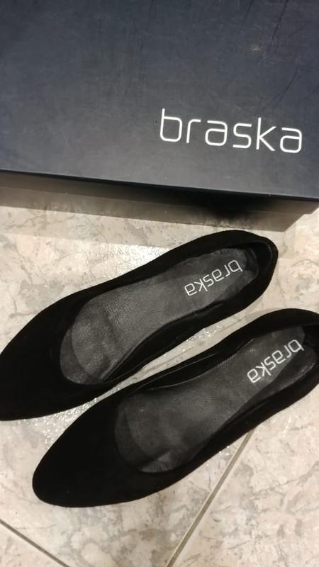 Черные балетки натуральная кожа braska р.39-40 новые, классика...