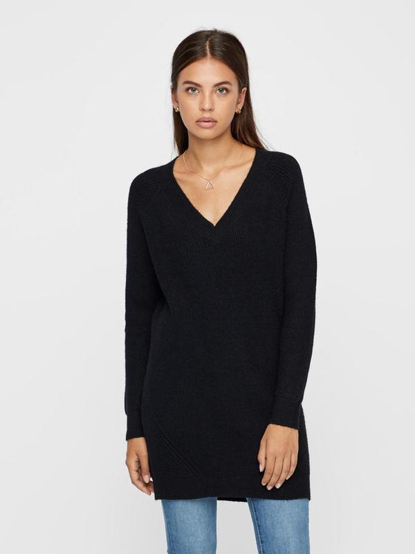 Длинный свитер c vобразным вырезом noisymay в размере xl