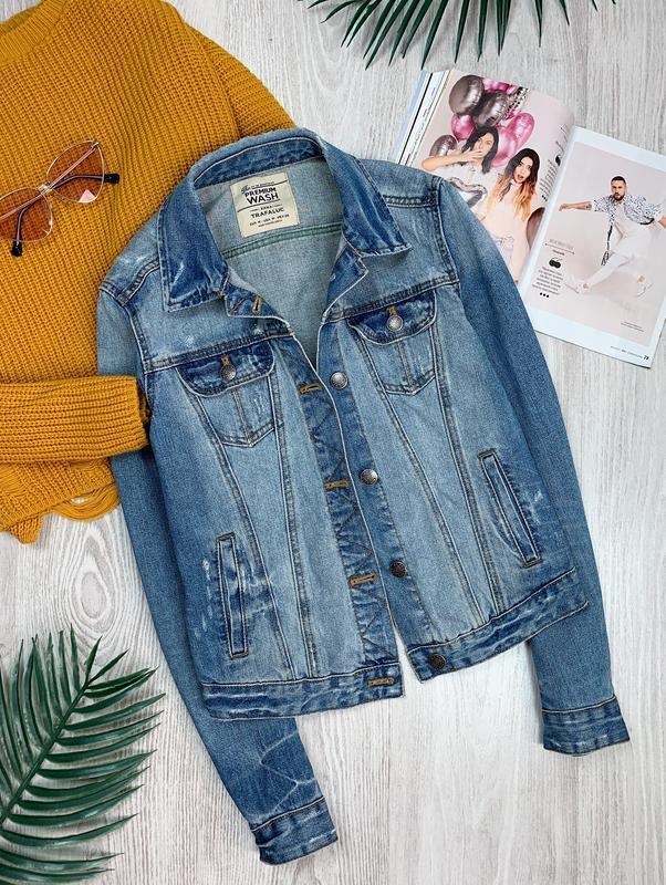 🌿 синяя базовая джинсовая куртка zara • курточка • пиджак• жакет