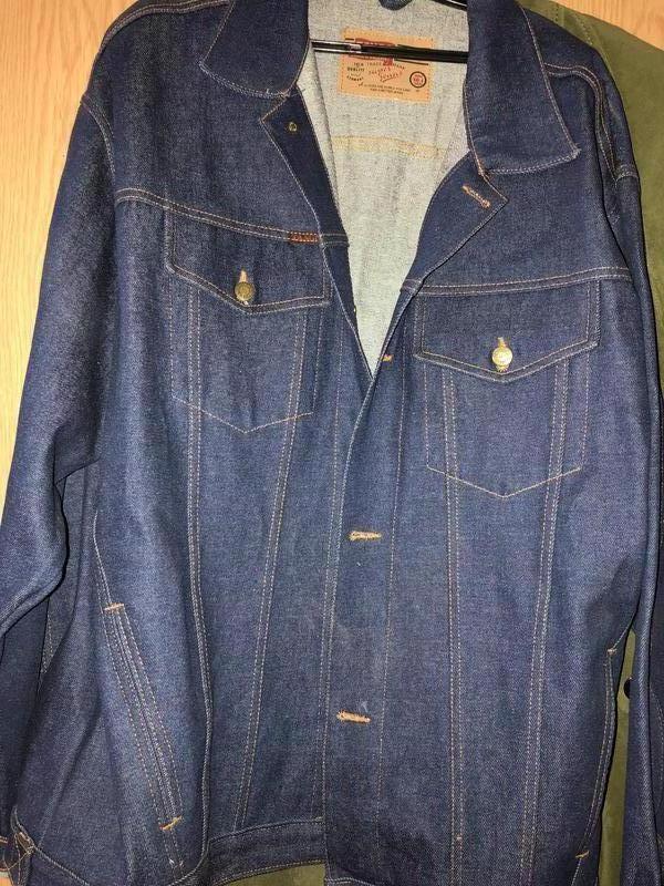 Джинсовая куртка-пиджак мужская xl