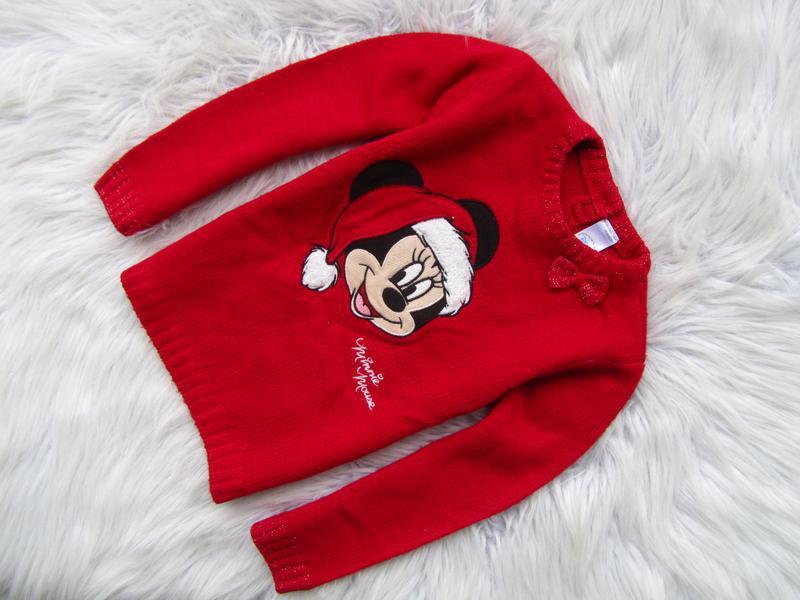 Кофта свитер свитшот джемпер c&a disney minney mouse новогодни...