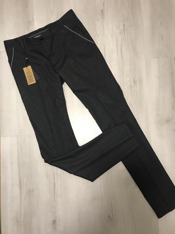 Мужские брюки в мелкую клетку