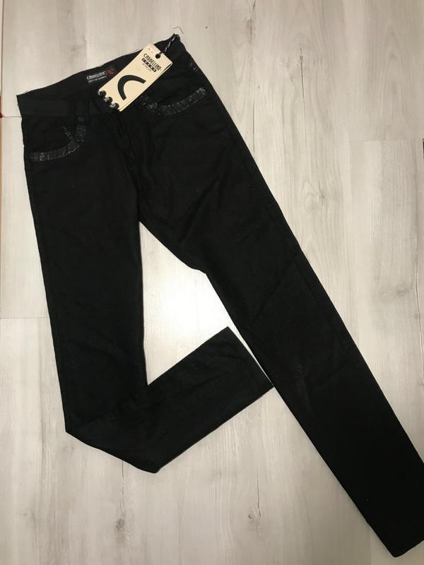 Льняные черные мужские брюки