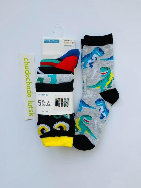 """Детские носочки """"дино"""" примарк для мальчика 2-11 лет"""