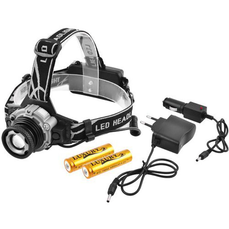 Фонарь налобный Police W002-XPE, датчик движения, ЗУ 220V/12V,...