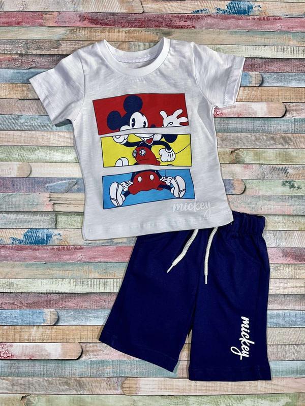 Летний костюм для мальчика мики  86 - 104 размер турция
