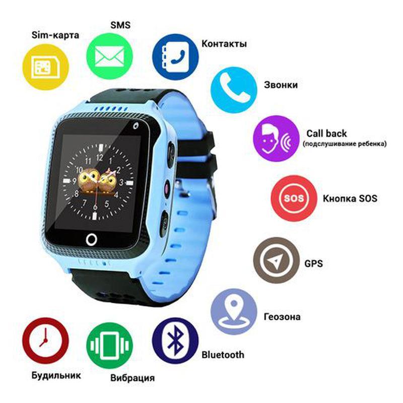 Детские смарт-часы с GPS трекером и фонариком Smart Baby Watch...