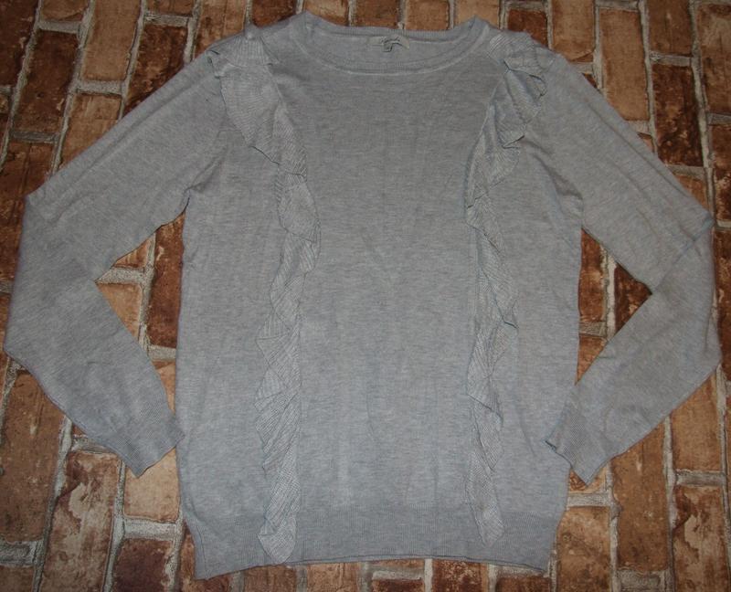 Кофта свитер вискоза с рюшами 12 евро - Фото 2