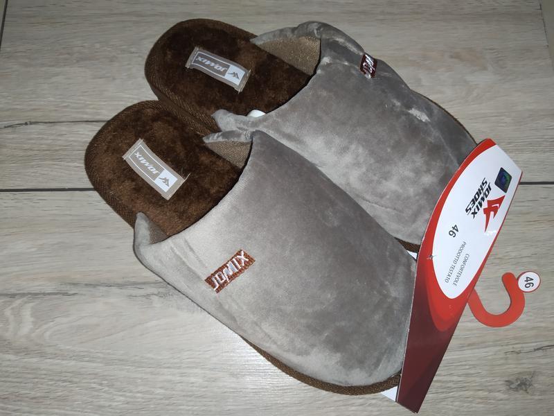 Мужские  плюшевые домашние тапочки мягкие домашні капці