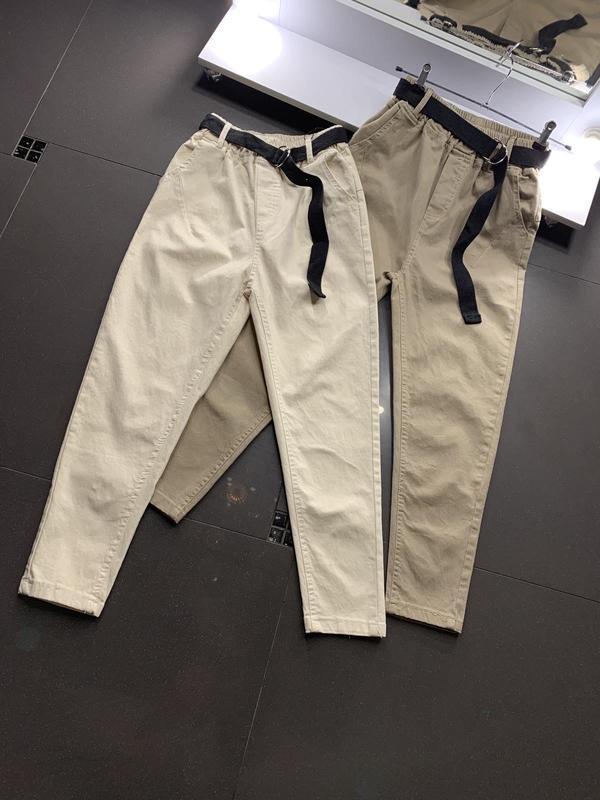 Хлопковые штаны брюки укороченные