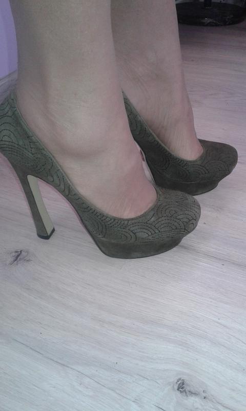Классные туфли замшевые на высоком каблуке р 37-стильно модно ...