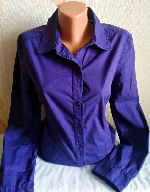 Фирменная яркая приталенная рубашка