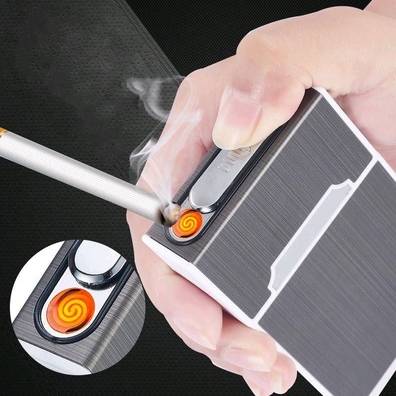 портсигар на 20 сигарет с зажигалкой и выбросом сигарет купить
