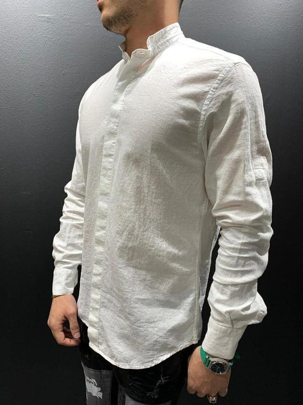 Рубашка мужская базовая белая / сорочка чоловіча рубаха блуза ...