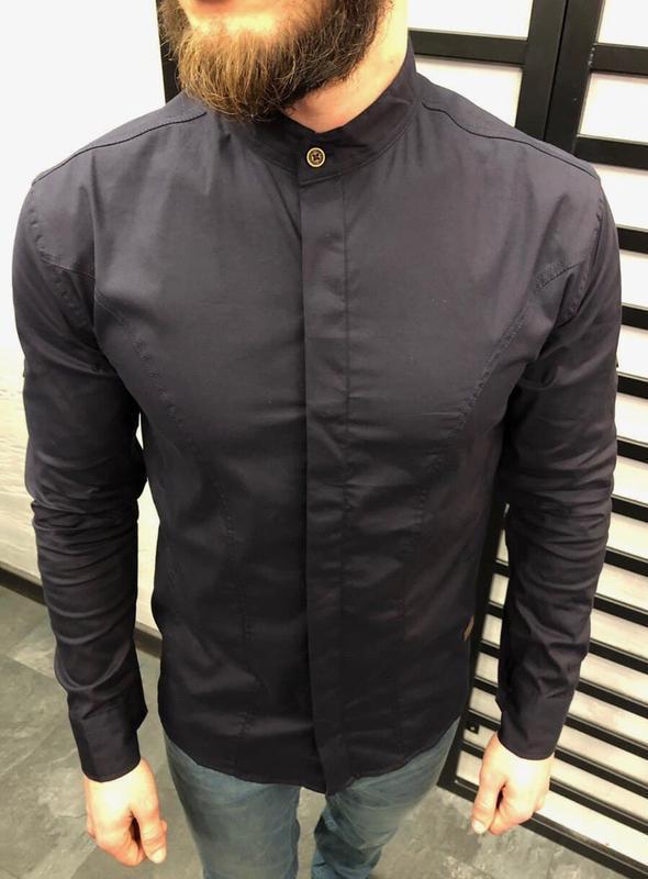 Рубашка мужская базовая темно серая / сорочка чоловіча рубаха ...