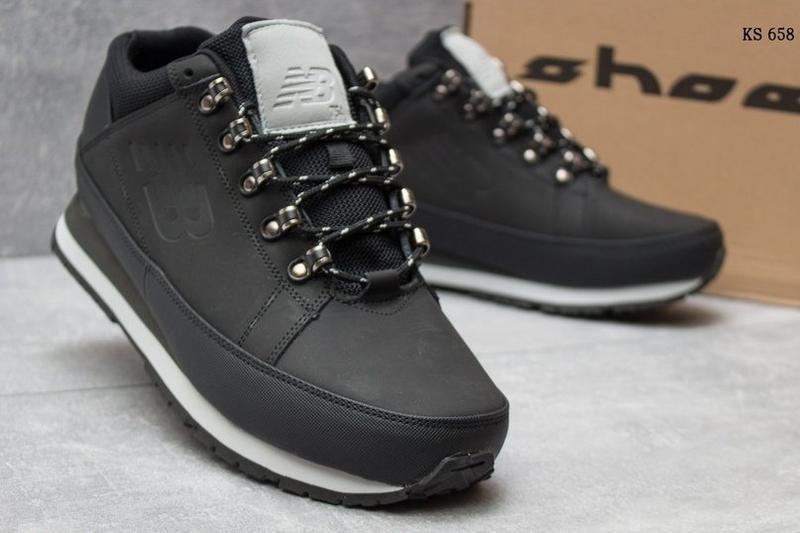 Зимние ботинки натуральная кожа new balance кроссовки высокие ...
