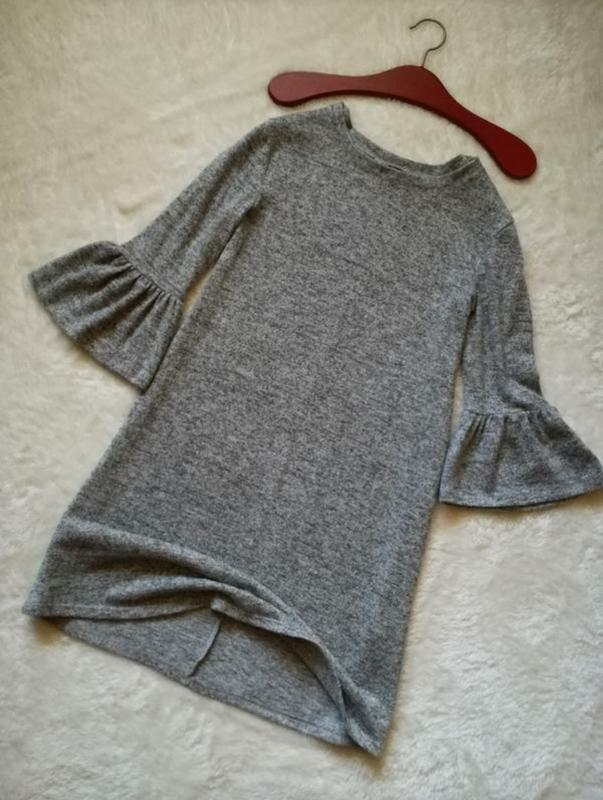 Платье свободного кроя рукав клеш