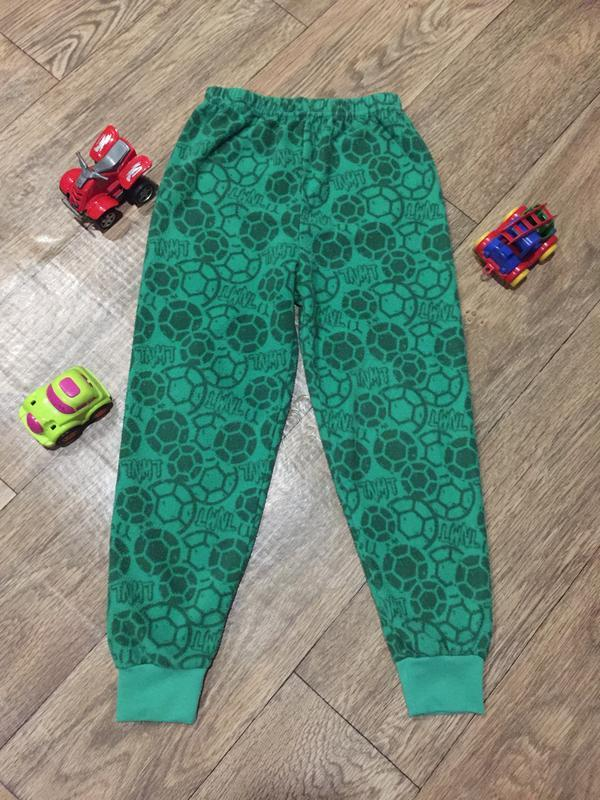 Флисовые штаны для дома и сна в принт-футбольный мяч, на 6\7 лет