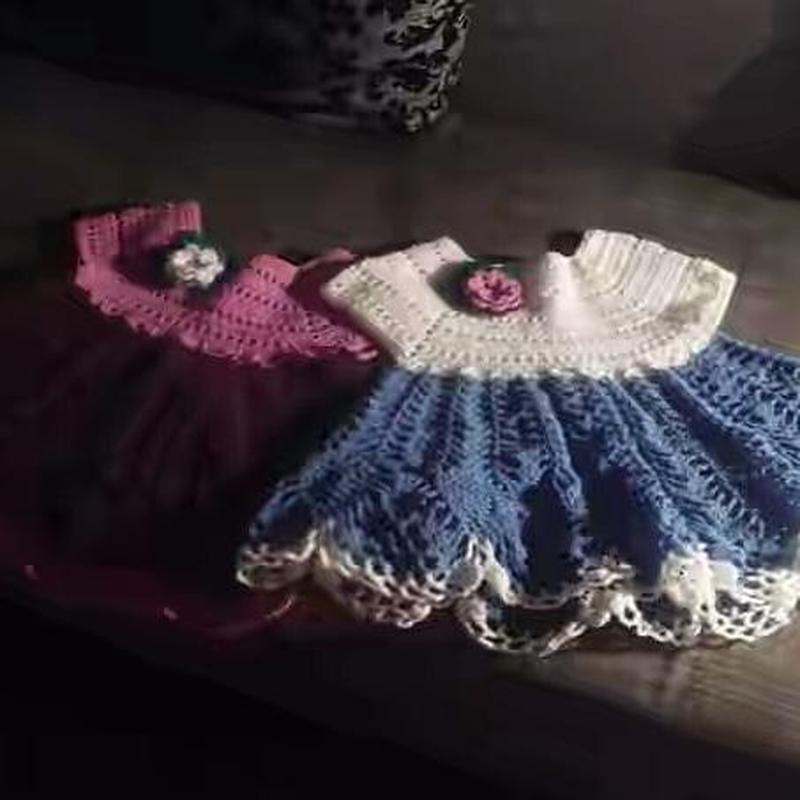 Свяжу на заказ платья для девочки крючком! - Фото 2