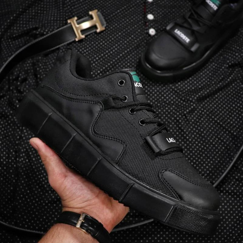 Мужские кроссовки lacoste black