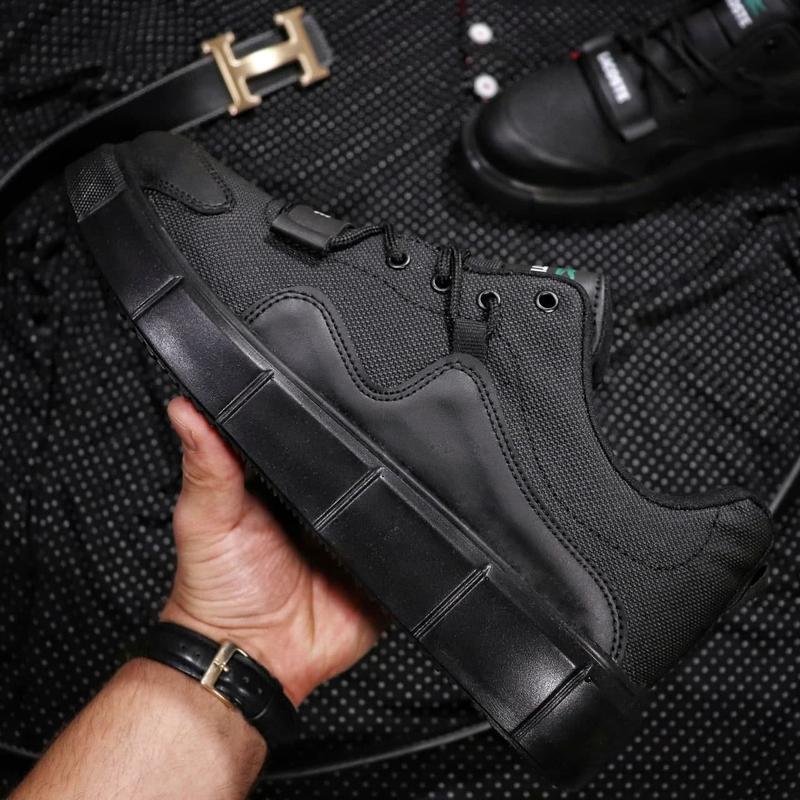 Мужские кроссовки lacoste black - Фото 2