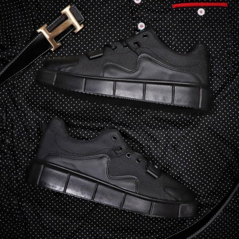 Мужские кроссовки lacoste black - Фото 3